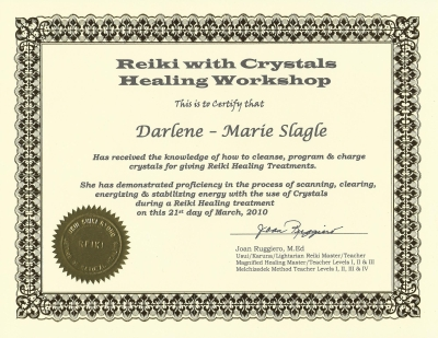 Reiki with crystals
